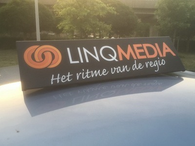 dakbord met reclame linq media