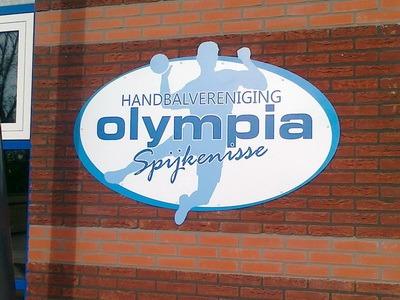 gefreesd reclame bord handbalvereniging olympia