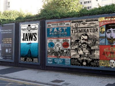 posters op muur