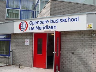 reclamebord openbare basisschool de meridiaan