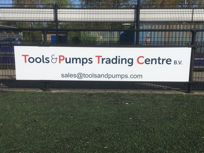 reclamebord tools and pumps