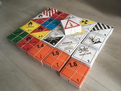 2500 waarschuwing gevaren stickers