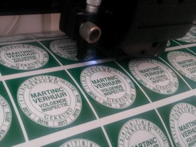 keuringsstickers print