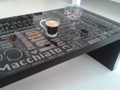 koffietafel met print