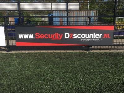 reclamebord security discounter