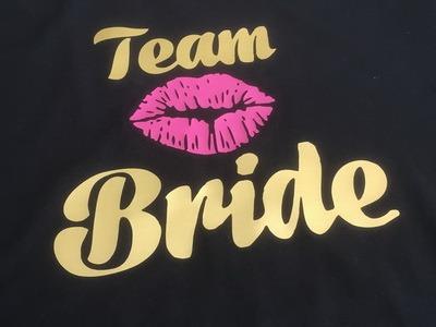 team bride goud en roze
